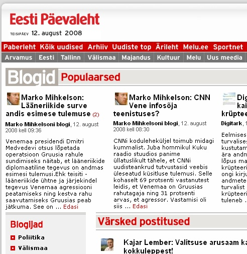 EPL kajastab Mihkelsoni Gruusia-Ameerika meelseid seisukohti.