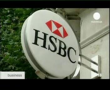 Euroopa suurima HSBC panga kuusnurkne logo