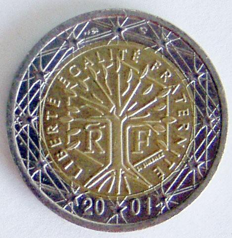 Prantsusmaa 2-eurone kuusnurgaga