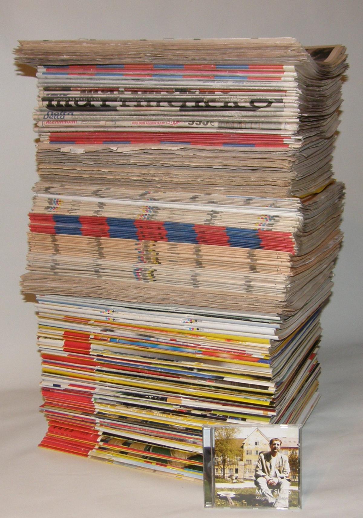 Ajalehtede tellimine on raha raiskamine. See virn on 62 cm kõrge, sisaldab 221 ajalehte ja nende kaanehind on 3733 krooni.