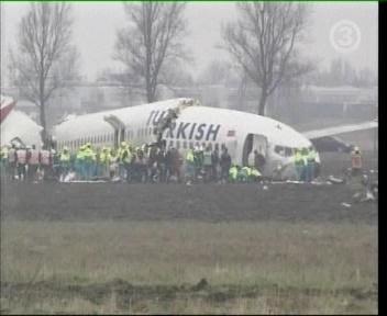 Sõna Türgi on samuti purunenud pärast lennuki alla kukkumist. TV3 uudiste pilt