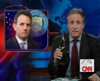 John Stewart with shampaigne bottle