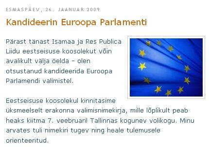 Ekraanipilt Marko Mihkelsoni blogist. Kliki pildil artikli lugemiseks.