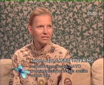 28. jaanuar 2009 Terevisioon. Õige sõdur sulab ümbritseva taustaga ideaalselt kokku. (Ingrid Mühling näitel)