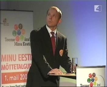 Rainer Nõlvak esinemas Minu Eesti esimesel kogunenud jututoas. Pilt TV4 16.04.09 kordussaatest.