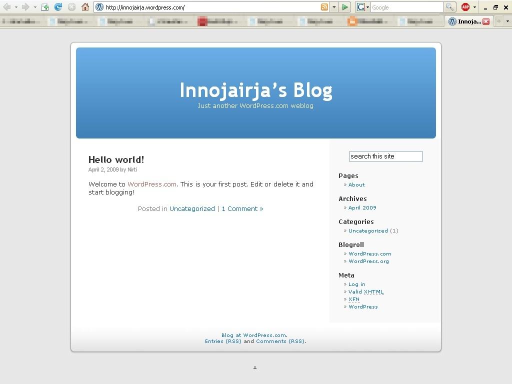 Esileht innojairja.wordpress.com 09.04.09