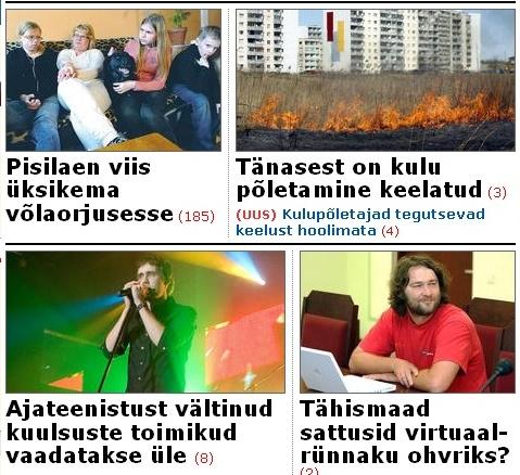 Postimehe esilehel on kirjas Tähismaade blogi kadumine.