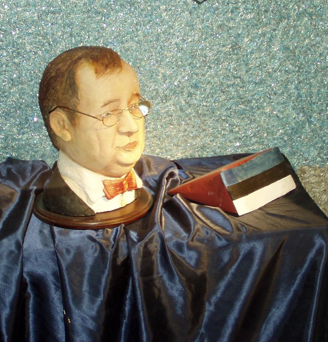 Martsipanist tehtud kuju president Toomas Hendrik Ilves´ega. Foto Virgo Kruve