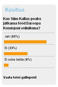 Interneti gallupi mõjutamine Siim Kallase kasuks.
