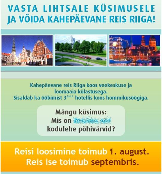 turismiweb.ee serveris olev spam kiri, millega korjatakse inimeste kontaktandmeid vastutasuks Riia piletite eest. Kes tahaks veel Eestist hullema majanduskriisiga riiki reisida?