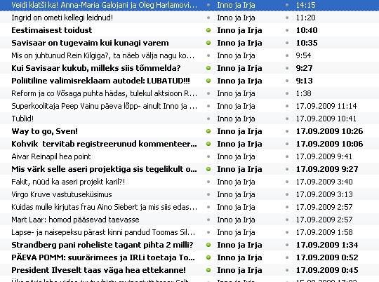 inno ja irja vabaks blogi feed artiklid ajaline tabel