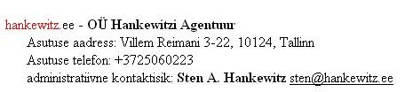 hankewitz.ee blogi omanik