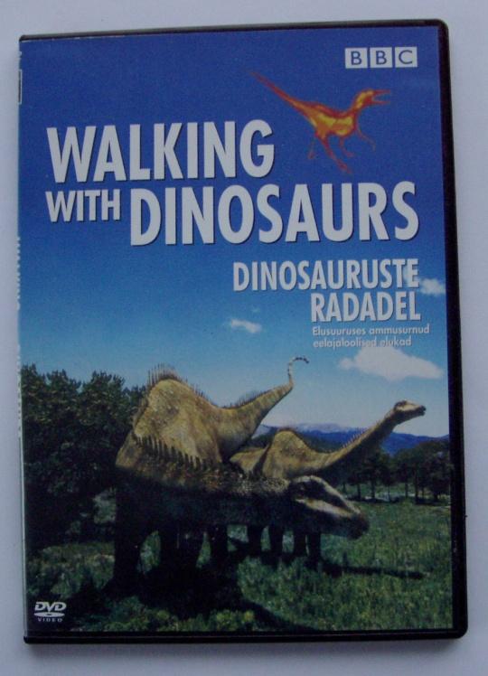 dvd dinosauruste radadel esikaas. foto virgo kruve