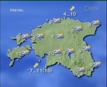 ilmateade eksib 2okt9 ennustus 3oktiks. Pange tähele sinis vihma piisaga pilvi Virumaal ja Pärnumaal.