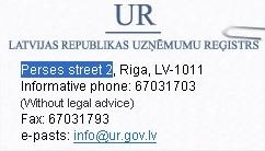 0808357 lati perses street 2 on riigiasutuse aadress