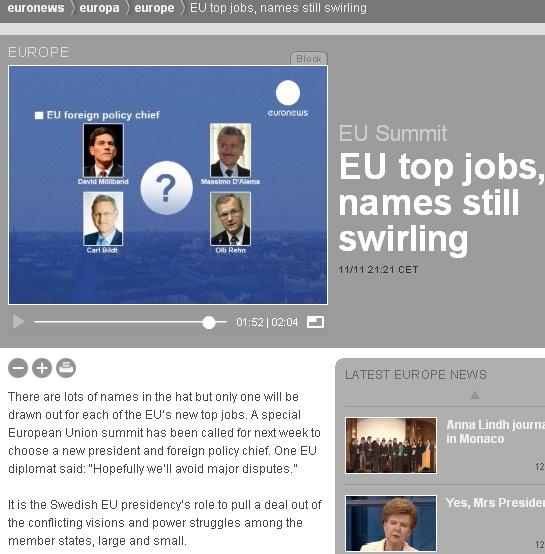 0808359 euroopa liidu välisministri kandidaadid Olli Rehn ja Carl Bildt