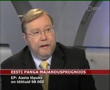 22.04.2009 ETV Eesti Pank prognoos 98 000 töötut