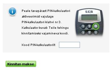 pin kalkulaator tahab 3 numbrit