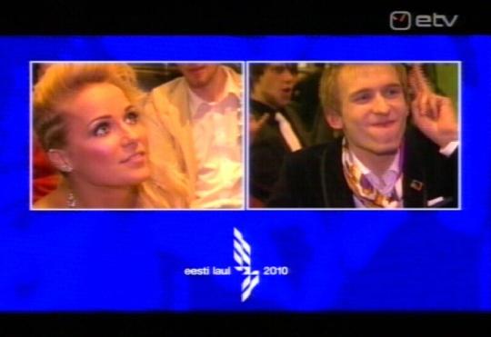 Eurovisiooni esineja valik oli: Lenna ja Malcolm Lincoln. ETV kaader.