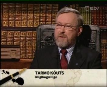 """Tarmo Kõuts on IRL liige Riigikogus ja meie eestkõneleja piraatide teemal. Kaader 19. aprill 2010 ETV saatest """"Välisilm esitleb"""""""