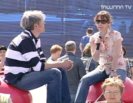 Tallinna televisioon avapäeval 15. mail. Ülekanne Vabaduse väljakult Tallinna päeva tähistamiselt. Järgmise aasta kultuuripealinna projektist räägib Mikko Fritze. Kaader 15. mai 2010