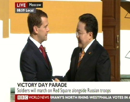 hiina president hu jintao saabub bbc järgi.