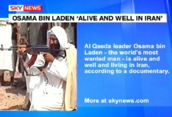 Osama bin Ladin on elus ja terve ning dokfilmi järgi elab nüüd Iraanis. Foto SkyNews