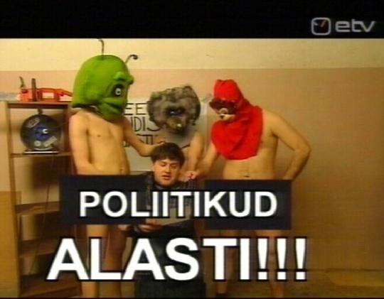 Erisaade poliitikud alasti ja nudistideks. Kaader 2. mai 2010 Erisaatest, kus roheline ja punane nudist on pantvangi võtnud Anatoli Tafitšuki.