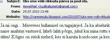 varesesulg.blogspot.com uks-sms-voib-rikkuda-paeva-ja-pool-elu