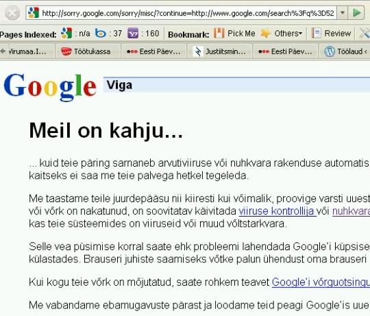 google meil on kahju error 403
