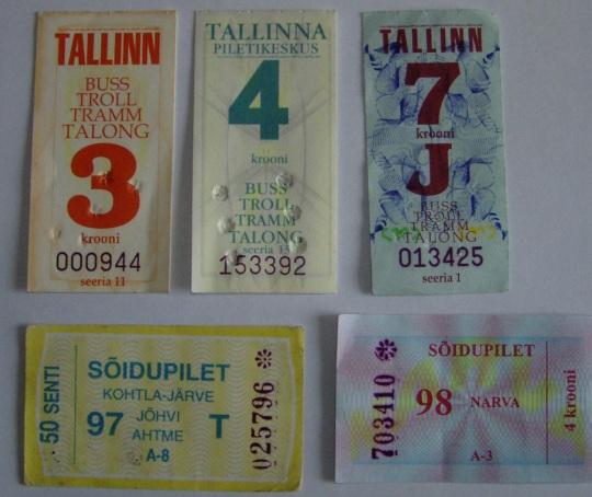 Bussipiletid 20. sajandi lõpust kuni aastani 2000. Foto Virgo Kruve