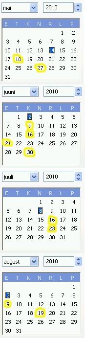 epl arvamuse kirjutajad kalendris