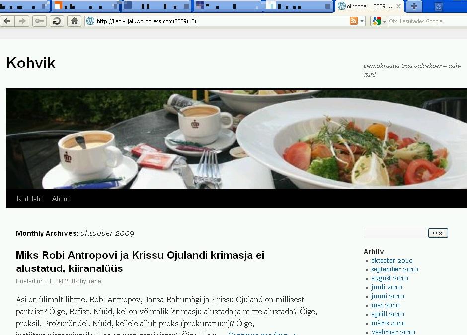 kadiviljak.wordpress.com oktoober 2009 postistused