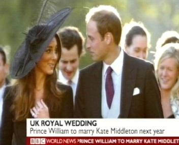 Prints William teatas 16. novembril 2010 oma soovist legaliseerida suhe rendinaise Kate Middletoniga ning liikuda edasi abielunaise suheteni. Otsus võttis aega umbes 8 aastat. Kaader BBC