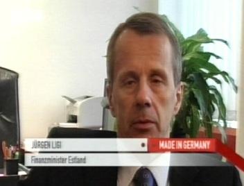 Jürgen Ligi saksa telekanalis 28. detsembril. Kaader DW-TV