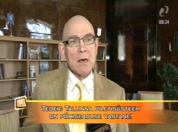 Õiguskantsler Indrek Teder saatis märgukirja Tallinna Linnavalitsusele, et muudes omavalitsustes registreeritud tudengitelt ei tohi kõrgemat ühistranspordi piletihinda küsida. Kaader Reporter