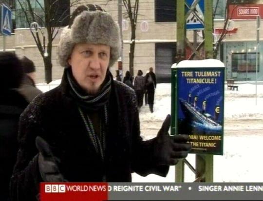 Eesti eurovastaste sõnum Euroopale. Kaader BBC