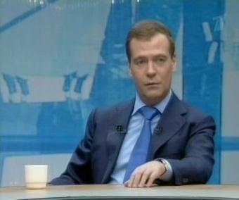 Dmitri Medvedev aastalõpu vestlus ajakirjanikega. Kaader PBK