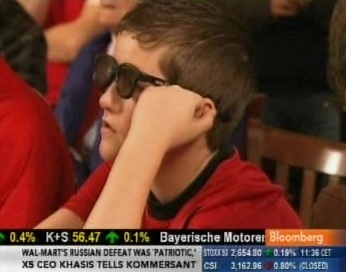 2010. aastal tuleb televiisori ja 3D pildi vaatamiseks kasutada spetsiaalseid prille. Kaader Bloombergi telekanal 24.12.2010