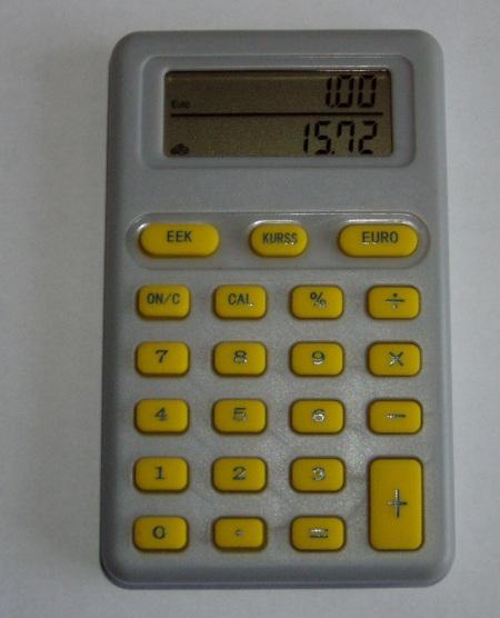 Eurokalkulaator arvestab 15,72 krooni kui 1,00 eurot. Foto Virgo Kruve