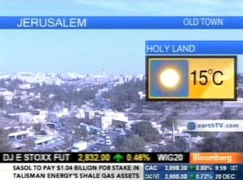 Bloomberg telekanal ja Holy land ehk Püha maa ilmateade