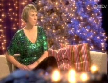 Margit Kilumets 25. detsembri ETV Jõulutunneli saates.