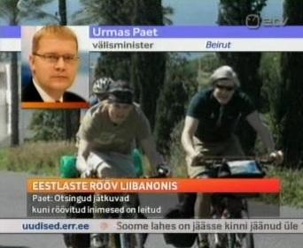 Välisminister läks Liibanoni. Kaader 28. märtsi AK.
