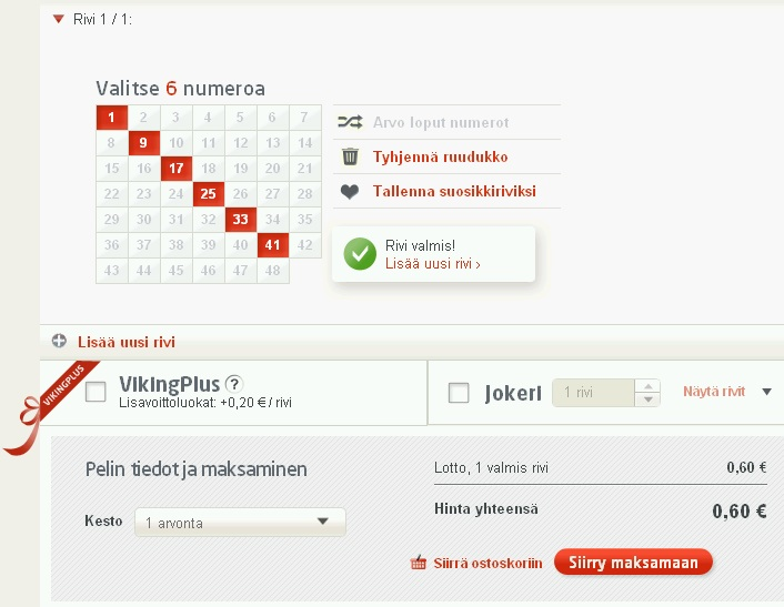 https://www.veikkaus.fi/fi/vikinglottoLomake Soomes maksab Viking Lotto pilet endiselt 60 eurosenti