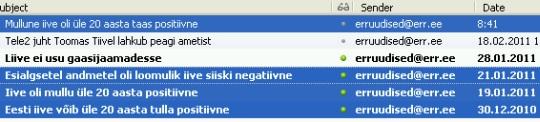 ERR-i uudised otsivad positiivseid märke Eesti iibe kohta.