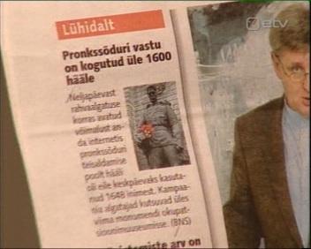 15. mai 2006 ajaleht Postimees teatab, et 1600 allkirja on kogutud algatusele, millega soovitakse Pronksmees teisaldada Kaarli kirikust teisele poole ehk okupatsioonide muuseumisse. Kaader ETV Terevisioon