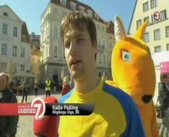 30. mai TV3 uudised näitasid Kalle Palling´u osalemist kontorirottide jooksul.
