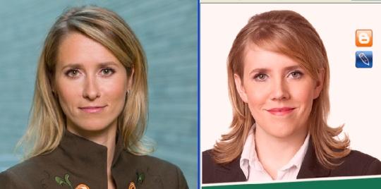 Kaja Kallas vasakul ja Olga Sõtnik paremal on imago mõttes sarnased. Fotod nende kodulehtedelt