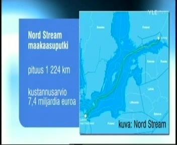 Nord Stream gaasitoru on 1224 kilomeetrit pikk ja kulgeb Venemaalt Viiburist mööda Läänemere põhja Saksamaale