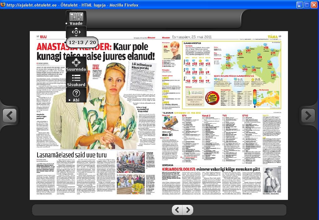Aadressil ajaleht.ohtuleht.ee on võimalik paberlehe elektroonilist koopiat lugeda (tasuta 22. juunini).